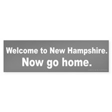 Welcome/New Hampshire Bumper Sticker