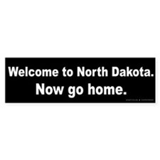 Welcome/North Dakota Bumper Sticker