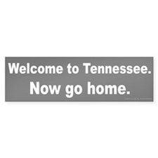 Welcome/Tennessee Bumper Sticker
