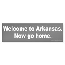 Welcome to Arkansas Bumper Sticker