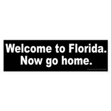 Welcome to Florida Bumper Sticker