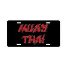 Muay Thai Aluminum License Plate