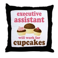 Funny Executive Assistant Throw Pillow