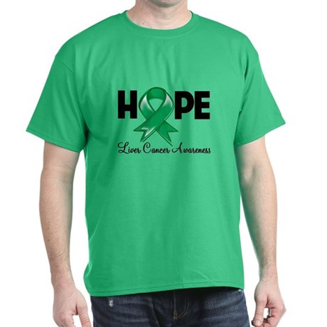 Hope Liver Cancer Dark T-Shirt
