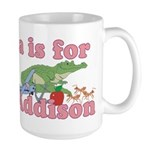 A is for Addison Large Mug