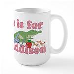 A is for Addison Large Mug
