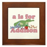 A is for Addison Framed Tile