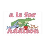 A is for Addison 38.5 x 24.5 Wall Peel