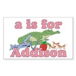 A is for Addison Sticker (Rectangle 50 pk)