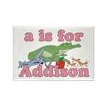 A is for Addison Rectangle Magnet (100 pack)