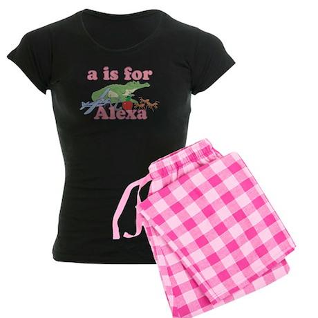 A is for Alexa Women's Dark Pajamas