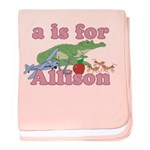 A is for Allison baby blanket