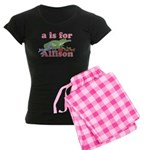 A is for Allison Women's Dark Pajamas