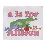 A is for Allison Throw Blanket