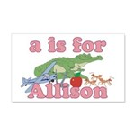 A is for Allison 22x14 Wall Peel