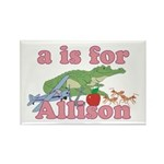 A is for Allison Rectangle Magnet