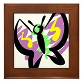 Purple Butterfly Framed Tile