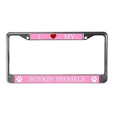 Pink I Love My Boykin Spaniels Frame