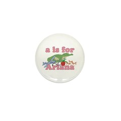 A is for Ariana Mini Button (100 pack)