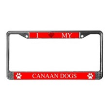 Red I Love My Canaan Dogs Frame