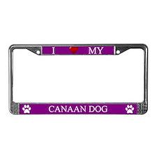 Purple I Love My Canaan Dog Frame