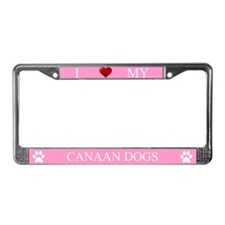 Pink I Love My Canaan Dogs Frame