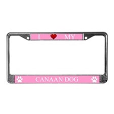 Pink I Love My Canaan Dog Frame
