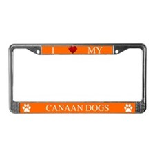 Orange I Love My Canaan Dogs Frame