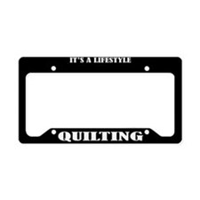 Quilting Gift License Plate Holder Frame