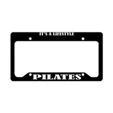 Pilates Gift License Plate Holder Frame