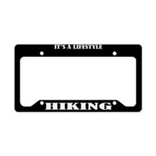 Hiking Gift License Plate Holder Frame