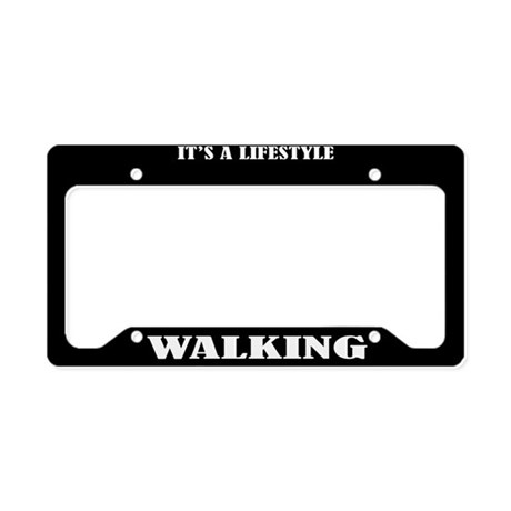 Walking Gift License Plate Holder Frame
