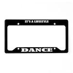 Dance Gift License Plate Holder Frame