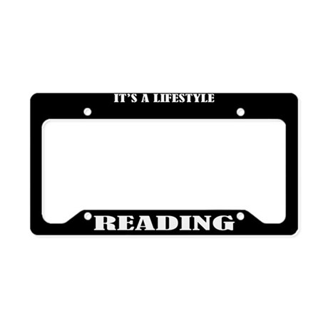 Reading Gift License Plate Holder Frame