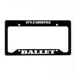 Ballet Gift License Plate Holder Frame