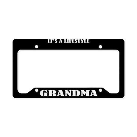 Grandma Gift License Plate Holder Frame