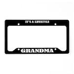 Grandma Gift License Plate Holder Frame