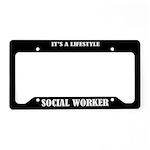 Social Worker Gift License Plate Holder Frame