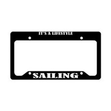Sailing Gift License Plate Holder Frame