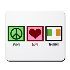 Peace Love Ireland Mousepad