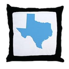 Baby Blue Texas Throw Pillow