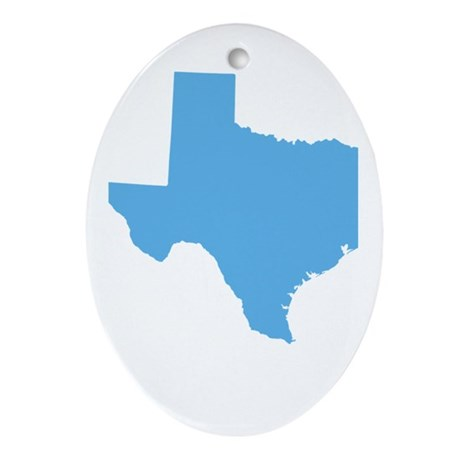 Baby Blue Texas Ornament (Oval)