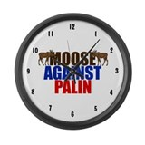 Moose Against Palin Large Wall Clock