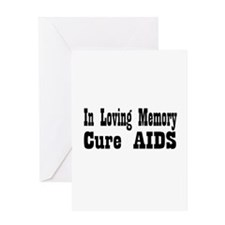 Cure aids Greeting Card