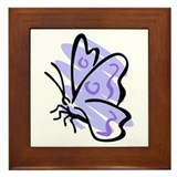 Blue Butterfly2 Framed Tile