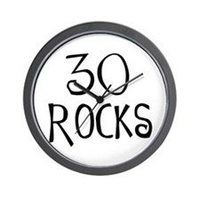 30th birthday saying, 30 rocks! Wall Clock