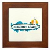 Rehoboth Beach DE - Surf Design Framed Tile