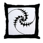Triple Julia Set Throw Pillow