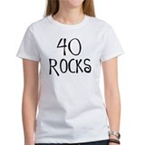 40th birthday saying, 40 rocks! Tee