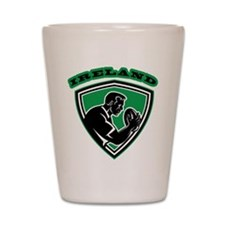 Ireland rugby player Shot Glass
